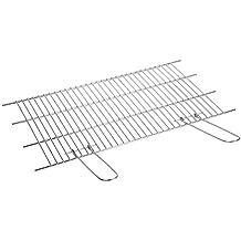 Sauvic 02750 - Parrilla Barbacoa Inoxidable Recortable, 18/8, 70 x 40 cm