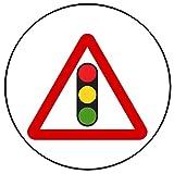 9 Stück Muffinaufleger Muffinfoto Aufleger Foto Bild Verkehrsschild Warnzeichen Ampel rund ca. 6 cm *NEU*OVP*