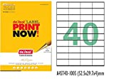 #10: Desmat 40-up ( 2000 stickers ) FBA Products Labels A4 Size 4BY10 Label For Fulfillment Services Seller (40 Label Sheet)(Pack of 50 Sheets)