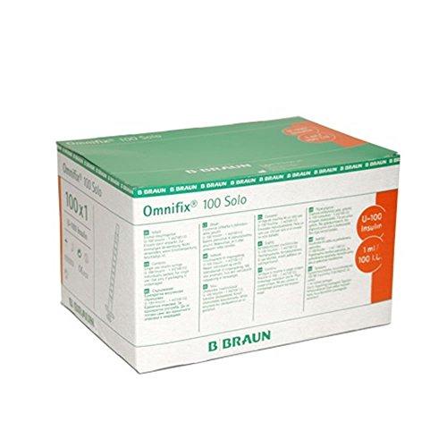 Jeringa insulina 1 ml/100 I.U. sin aguja Omnifix-Caja 100u