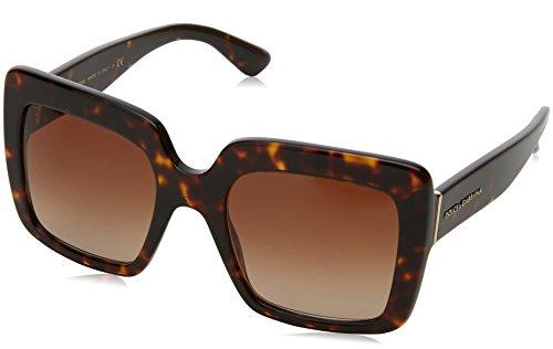 Dolce & Gabbana Damen 0DG4310 502/13 52 Sonnenbrille, Braun (Havana/Browngradient),