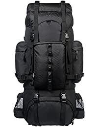 AmazonBasics Internal Frame (Hardback) Hiking Backpack with Raincover