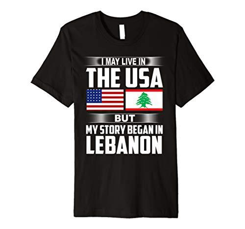 Live in Usa Geschichte begann Libanon Stolz Libanesische Flagge T-Shirts