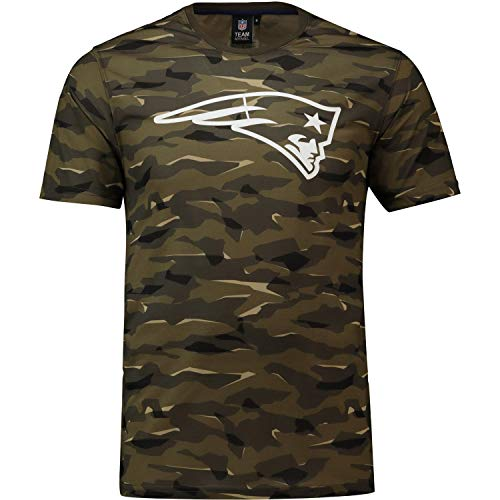 Majestic Athletic NFL Football T-Shirt New England Patriots Logo Tee T Camo Camouflage (XX-Large)