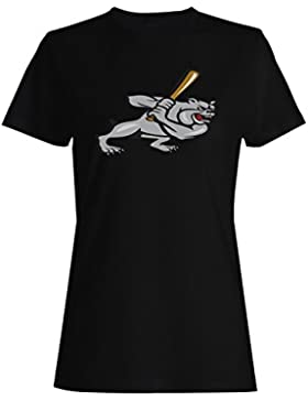 Bulldog figura novedad arte vintage camiseta de las mujeres n60f