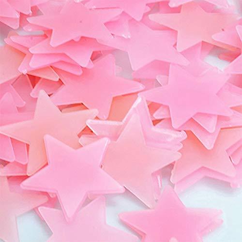 WEIWEITOE-DE Glow Luminous Decal Wandaufkleber Flurescent Kunststoff Decke Nacht Sterne Aufkleber Abnehmbare Dekorative Aufkleber für Baby Zimmer, Bunte,