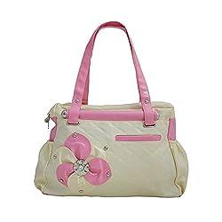 Typify Women's Elegance Style Handbag Cream- 10TBAG15