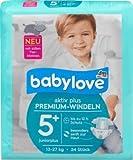 babylove Windeln Premium aktiv plus Größe 5+, juniorplus 13-27kg, 1 x 34 St