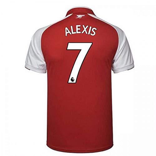 7dc222aed7e 2017-18 Arsenal Home Football Soccer T-Shirt (Alexis Sanchez 7)