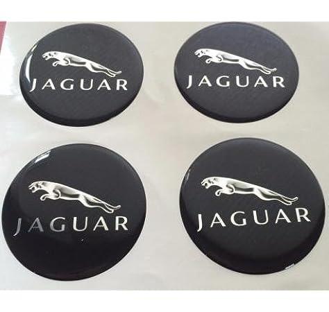 Jaguar 4 Stück 60mm Aufkleber Emblem Für Felgen Nabendeckel Radkappen Auto