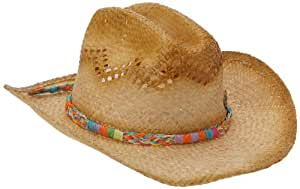 Rip Curl Women's Sunrise Straw Cowgirl Sun Hat, Beige (Natural), One Size