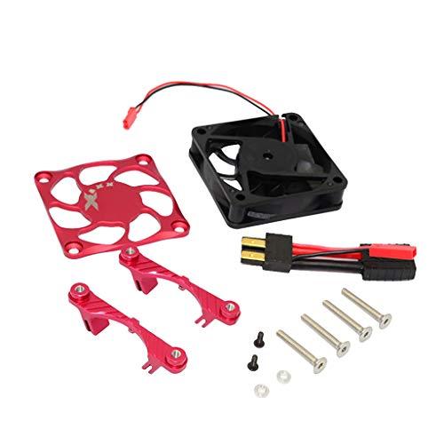 GPM Aluminium Motor Kühlkörper Mit Kühlung Ventilator einstellen kompatibel mit TRAXXAS X-MAXX 1/5 RC Auto Wärmeableitung Fan (Gpm Motor)