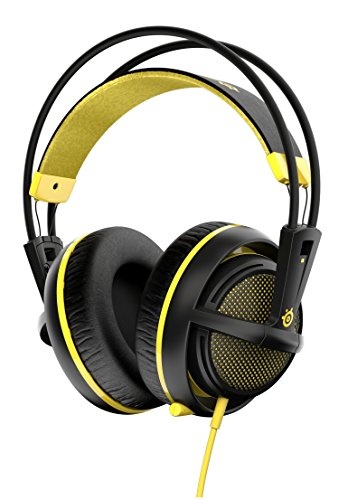 SteelSeries Siberia 200- Casque Gaming- Micro Rétractable- Logiciel de configuration- (PC / Mac / Playstation / Mobile) - Proton Yellow
