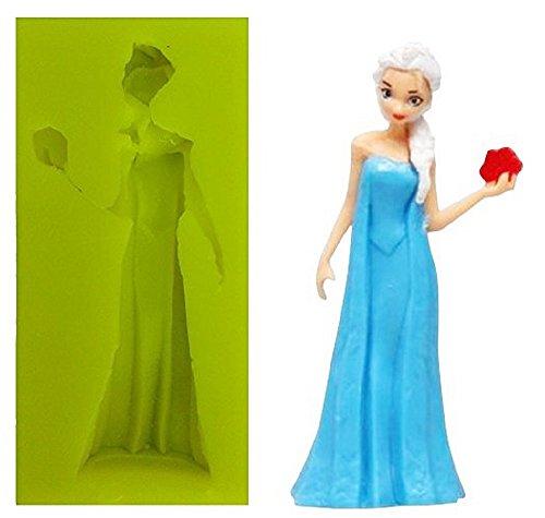 Inception Pro Infinite Molde de Silicona para Uso Artesanal de Famosos Personajes de Dibujos Animados Elsa Frozen 2D - también Adecuado para el jabón