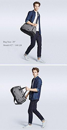 Perfekte Gym Bag ! Mixi Handgepäck Düffelbeutel Fitnesstasche Reisetasche Idea für Wochenende oder Übernachten Grau