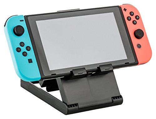 Gaminger Nintendo Switch Stand PlayStand Dockingstation mit Verschiedenen Winkeln und Lüftungsschlitzen, zusammenklappbar für einfachen Transport, schwarz