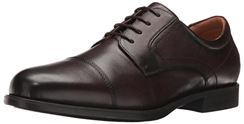 Florsheim Men's Medfield Cap Toe Oxford, Brown, 9.5 3E US