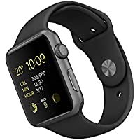 Apple 42 mm Sports Watch with Aluminum Case - Space Grey/Black - (1st Generation)