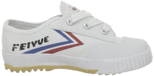 Feiyue Fe Lo Laces Classic, Baskets mode mixte enfant Blanc (White/Red/Blue)