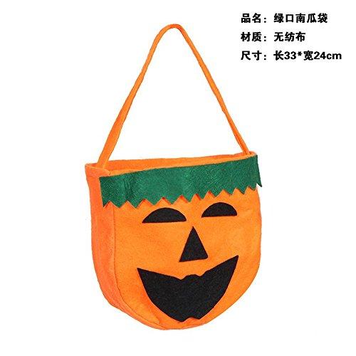 COS Kleidung der Kinder Kostüm Halloween Teufel Hörner Cape Mantel Kürbis Schaufel gebunden Kinder suite,Grün Kürbis (Formel Halloween Kostüm 1)