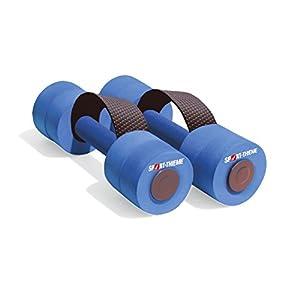 Sport-Thieme Aqua-Jogging-Hanteln mit Schlaufengriff | Aquafitness-Hanteln mit optimalem Auftrieb u. Wasserwiderstand | In Zwei Größen | Hautfreundlicher Schaumstoff | Blau | Markenqualität