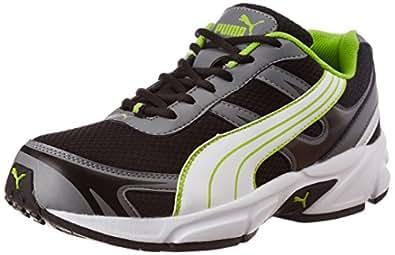Puma Men's Carlos Ind Black, White and Sulphur Spring Running Shoes - 6 UK/India (39 EU) (18719911)