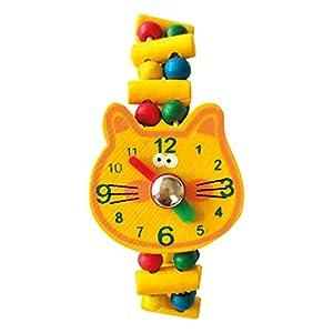 Bino- Reloj de Madera - Gato, Multicolor (9987138)