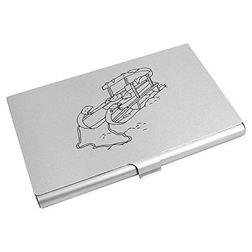 'Holzschlitten' Visitenkartenhalter / Kreditkarte Geldbörse (CH00005969)