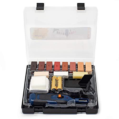 rokkel® Fußboden Reparaturset - umfangreiches Kit zur einfachen Korrektur von Laminat Fliesen & Steingut
