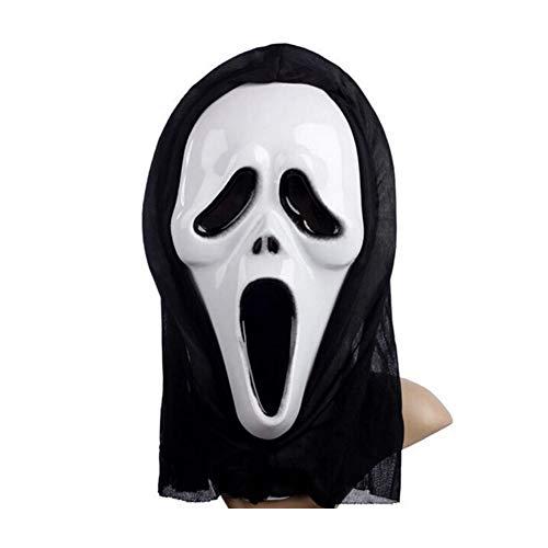 DOXMAL Halloween Horror Masken Party Maskerade Grimasse Ärmelmaske Geistermaske Scream weißes Gesicht für Unisex Classic