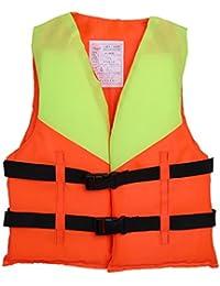Chaleco Salvavidas De Espuma Para Niños, Chaleco De Flotabilidad, Chaleco De Ayuda Para Niños Nadar 、Navegación 、Pesca 、Drifting 、Seguridad Para Esquí ,Chaleco Salvavidas( Color Brillante)