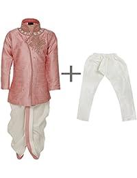 AJ Dezines Kids Indo Western Kurta Pyjamas Dhoti Pant Set for Boys