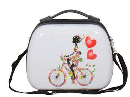 Warenhandel König Polycarbonat Hartschalen Koffer Reisekoffer Handgepäck Boardcase Beatycase Kosmetikkoffer Motiv PM (Martinique, Größe S (Beautycase))