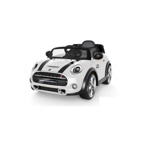 Auto Elettrica 12v Per Bambini Mini Cooper Colore Bianco Con