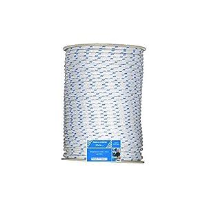 Antica Corderia Marra - Treccia Nautica mm 6, 100 m, bianca con segnalino azzurro