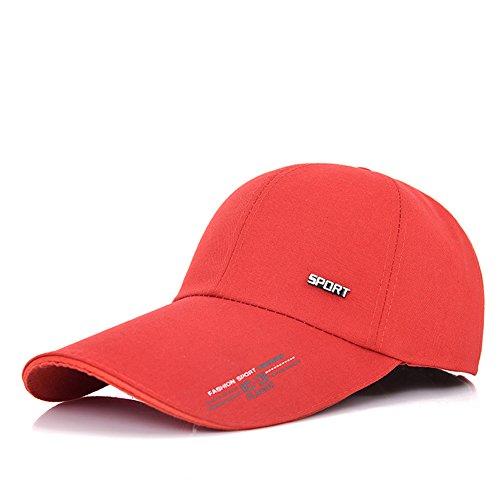 LZ Home Red Hat Hombres MS Verano Outdoor Shade Cap Béisbol Gorro Protector  Solar Sunhat Pesca fc6a1920d4a