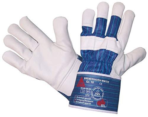StrongAnt® - BREMERHAVEN-WINTER PSA-Kat. II, Arbeitshandschuhe Winter-Handschuhe, 5-Fg.-Sicherheitshandschuhe aus Vollleder Größe: 9