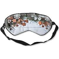 Augenmaske mit verstellbarem Riemen und Schneeflocke, Maulbeerseide, Weihnachtsmotiv preisvergleich bei billige-tabletten.eu