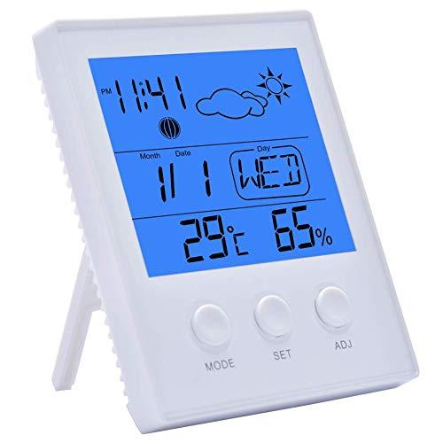 ALWAYSUV Digitales Thermometer Hygrometer Innen Luftfeuchtigkeit Messgerät mit Großem LCD Bildschirm (Batterie Nicht enthalten)