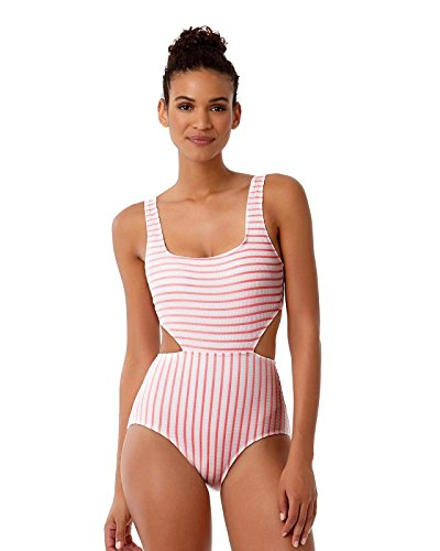 96642993d0 Anne Cole Studio Women's Striped Textured Sexy One Piece Swimsuit