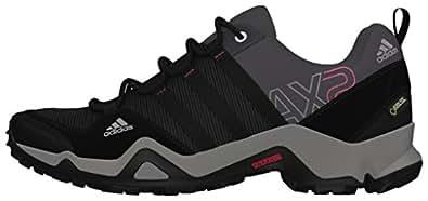 adidas AX2 GTX, Damen Trekking- & Wanderhalbschuhe, Grau (Carbon S14/Black 1/Bahia Pink S14), 42 EU (8 Damen UK)