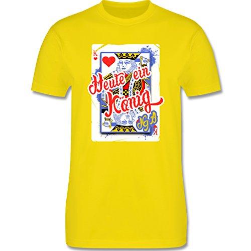 JGA Junggesellenabschied - Heute ein König - Bräutigam JGA - Herren Premium T-Shirt Lemon Gelb