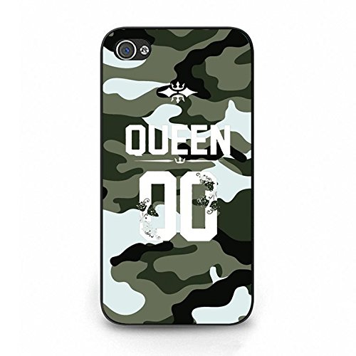 Personality Special King Queen Couple Phone Case Cover Customized Shell for Iphone 4/4s King Queen Lovers Hot Cool Color102d