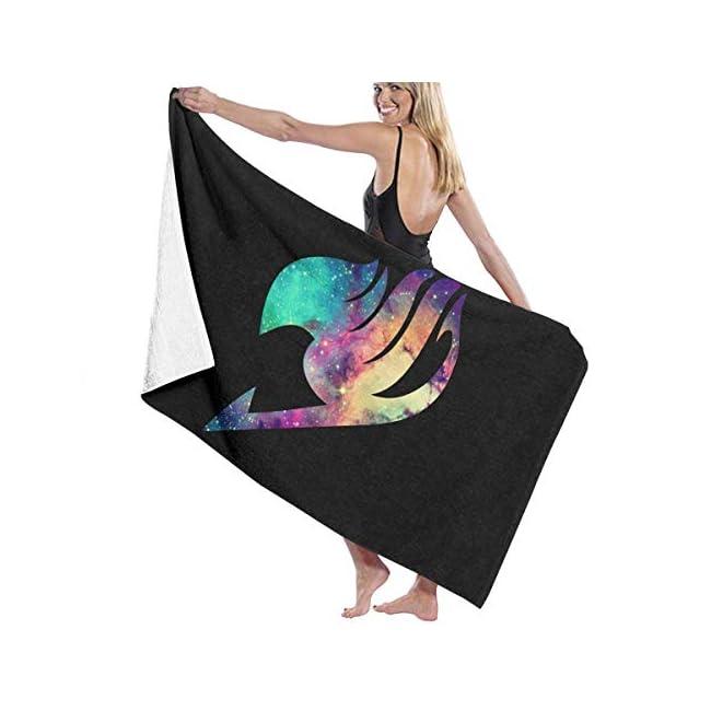 Badetuch, Fairy Tail Anime Logo Badetücher Super saugfähig Strand Badezimmer Handtücher für Gym