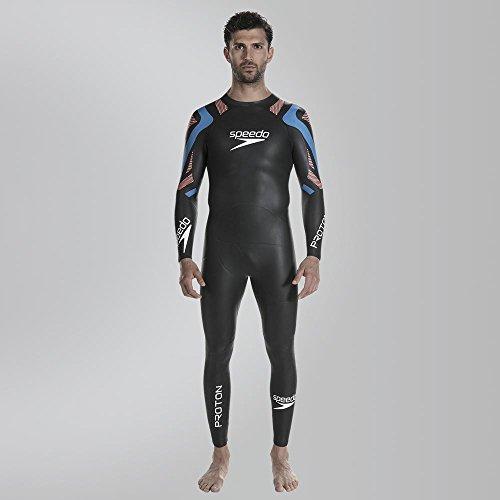 Speedo Fastskin Proton Bañador, Hombre, Negro/Azul, M