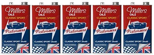 Millers Classic Sport 20W60 Olio Motore Semi Sintetico, 25 Lit