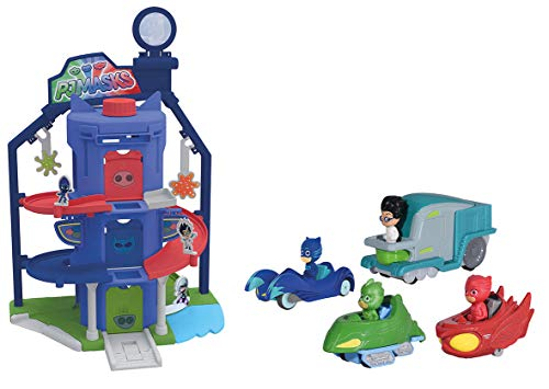 Majorette - PJ Masks - Garage Quartier General pyjamasques + 4 Veicoli