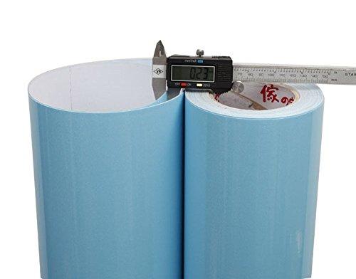 DUOCK Glänzend Tapeten PVC Küchenschrank Möbel Küche Vinyl Tapeten PVC Selbstklebende Tapete selbstklebende Papier Aufkleber, 61CM X 5M