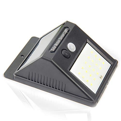 Características del Producto      1. Diseño integrado de sensor de movimiento PIR y sensor de noche.   2. Se recarga con luz solar y almacena energía para iluminar durante la noche.   3. Más de 12 horas de funcionamiento con una carga directa...