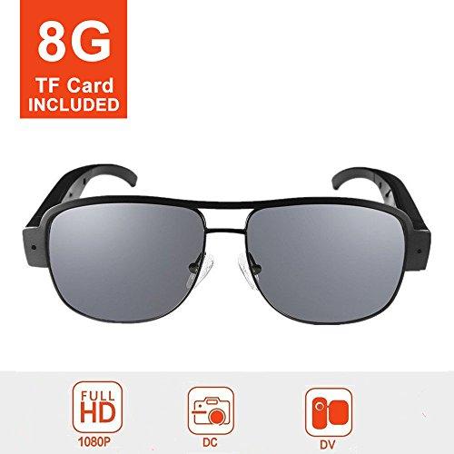 Mofek 8GB 1080P HD espía cámara moda gafas sol